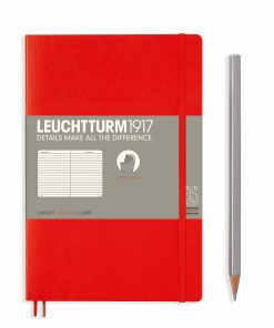Notebooks Notebook Paperback (B6+) ruled, softcover, 123 numbered pages, red