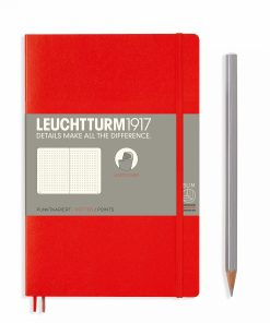 Notebooks Notebook Paperback (B6+) dotted, softcover, 123 numbered pages, red