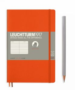 Notebooks Notebook Paperback (B6+) ruled, softcover, 123 numbered pages, orange