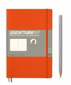 Notebooks Notebook Paperback (B6+) plain, softcover, 123 numbered pages, orange