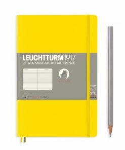 Notebooks Notebook Paperback (B6+) ruled, softcover, 123 numbered pages, lemon