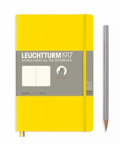 Notebooks Notebook Paperback (B6+) plain, softcover, 123 numbered pages, lemon