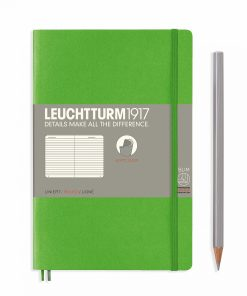 Notebooks Notebook Paperback (B6+) ruled, softcover, 123 numbered pages, fresh green