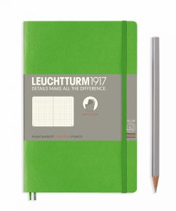 Notebooks Notebook Paperback (B6+) dotted, softcover, 123 numbered pages, fresh green