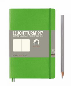 Notebooks Notebook Paperback (B6+) plain, softcover, 123 numbered pages, fresh green