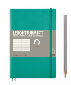 Notebooks Notebook Paperback (B6+) ruled, softcover, 123 numbered pages, emerald