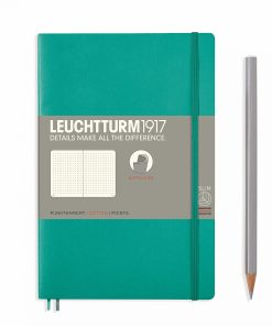Notebooks Notebook Paperback (B6+) dotted, softcover, 123 numbered pages, emerald
