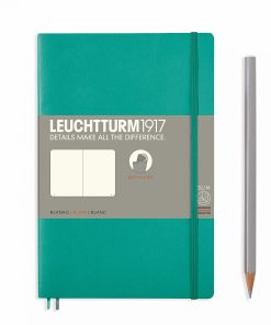 Notebooks Notebook Paperback (B6+) plain, softcover, 123 numbered pages, emerald
