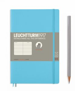 Notebooks Notebook Paperback (B6+) ruled, softcover, 123 numbered pages, ice blue