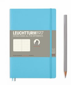 Notebooks Notebook Paperback (B6+) dotted, softcover, 123 numbered pages, ice blue