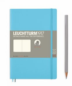 Notebooks Notebook Paperback (B6+) plain, softcover, 123 numbered pages, ice blue