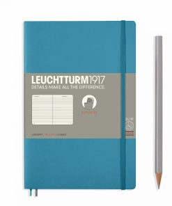 Notebooks Notebook Paperback (B6+) ruled, softcover, 123 numbered pages, nordic blue