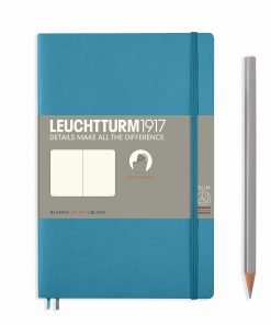 Notebooks Notebook Paperback (B6+) plain, softcover, 123 numbered pages, nordic blue