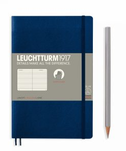 Notebooks Notebook Paperback (B6+) ruled, softcover, 123 numbered pages, navy