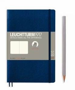 Notebooks Notebook Paperback (B6+) plain, softcover, 123 numbered pages, navy