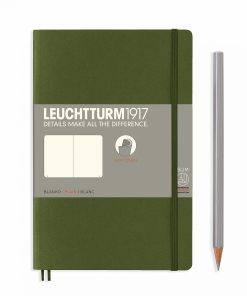 Notebooks Notebook Paperback (B6+) plain, softcover, 123 numbered pages, army