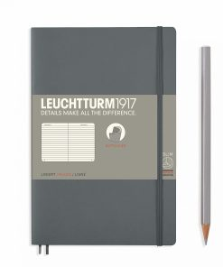 Notebooks Notebook Paperback (B6+) ruled, softcover, 123 numbered pages, anthracite