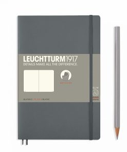 Notebooks Notebook Paperback (B6+) plain, softcover, 123 numbered pages, anthracite grey