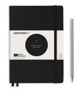 , Academy Pad (A4) Whitelines Link, Hardcover, 60 Sheets, Ruled, Black