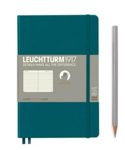 Notebooks Notebook Paperback (B6+) ruled, softcover, 123 numbered pages, pacific green