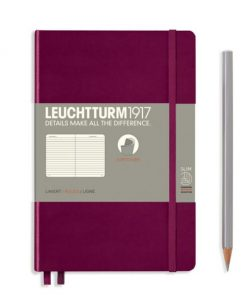 Notebooks Notebook Paperback (B6+) ruled, softcover, 123 numbered pages, port red