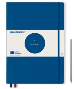 , Bullet Journal Notebook Medium (A5) Hardcover, 240 Numbered Pages, Dotted, Nordic Blue