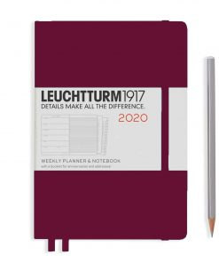 , Monthly Planner & Notebook 12 Mon Paperback (B6+) 2020, With Ex.Book, Pacific Green, English