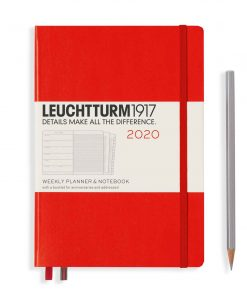 2020 Diaries - Available September 2019 - Backorder Now Weekly Planner & Notebook Medium (A5) 2020, with Extra Booklet, Red, English