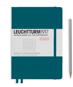 2020 Diaries - Available September 2019 - Backorder Now Weekly Planner & Notebook Medium (A5) 2020, with Extra Booklet, Pacific Green, English