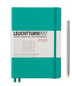 2020 Diaries - Available September 2019 - Backorder Now Weekly Planner & Notebook Medium (A5) 2020, with Extra Booklet, Emerald, English