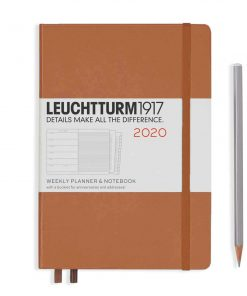 2020 Diaries - Available September 2019 - Backorder Now Weekly Planner & Notebook Medium (A5) 2020, with Extra Booklet, Copper, English