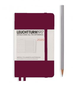 , Daily Planner 12 Months Pocket (A6) 2020, with Extra Booklet, Black