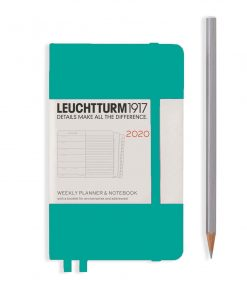 , Monthly Planner & Notebook 12 Months Paperback (B6+) 2020, With Ex. Booklet, Berry
