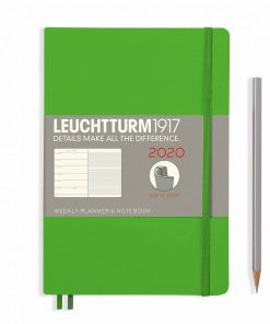2020 Diaries - Available September 2019 - Backorder Now Weekly Planner & Notebook Softcover Medium (A5) 2020, Fresh Green, English