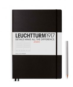 , Monthly Planner & Notebook 12 Months Paperback (B6+) 2020, With Ex. Booklet, Navy, English