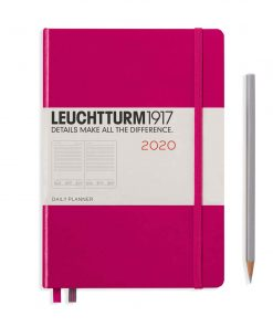 2020 Diaries - Available September 2019 - Backorder Now Daily Planner 12 Months Medium (A5) 2020, with Extra Booklet, Berry, English