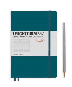 2020 Diaries - Available September 2019 - Backorder Now Daily Planner 12 Months Medium (A5) 2020, with Extra Booklet, Pacific Green, English