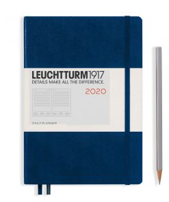 2020 Diaries - Available September 2019 - Backorder Now Daily Planner 12 Months Medium (A5) 2020, with Extra Booklet, Navy, English