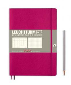 2020 Diaries - Available September 2019 - Backorder Now Monthly Planner & Notebook 12 Months Comp. (B5) 2020, with Extra Booklet, Berry, English