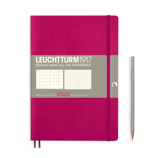 , Monthly Planner & Notebook 12 Months Composition (B5) 2020, Berry