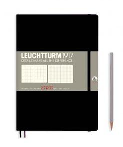 2020 Diaries - Available September 2019 - Backorder Now Monthly Planner & Notebook 12 Months Comp. (B5) 2020, with Extra Booklet, Black, English