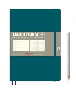 2020 Diaries - Available September 2019 - Backorder Now Monthly Planner & Notebook 12 Months Comp. (B5) 2020, With Ex.Book., Pacific Green, English