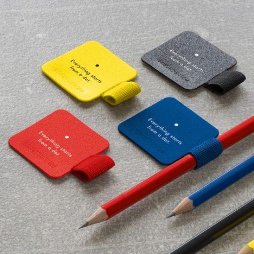 , Penloop Assorted 4 Colours Black, Royal Blue, Red, Lemon Bauhaus 100