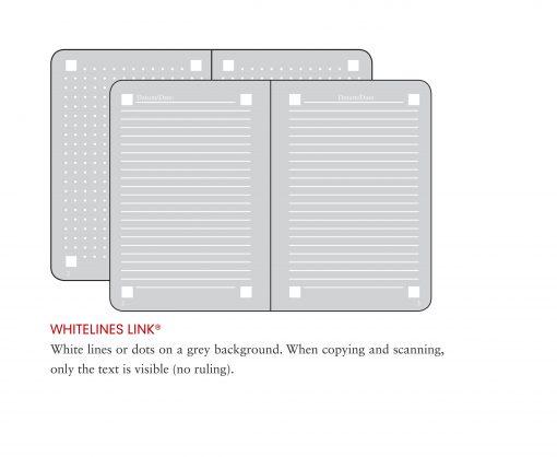 , Academy Pad Medium (A5) Whitelines Link, Hardcover, 60 Sheets, Ruled, Black