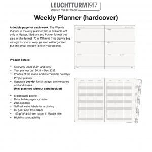 2021 Weekly Planner Hardcover