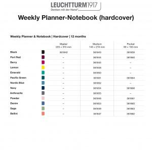 2021 Weekly Planner-Notebook Hardcover