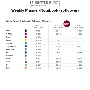 2021 Weekly Planner-Notebook Softcover