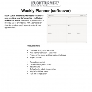 2021 Weekly Planner Softcover